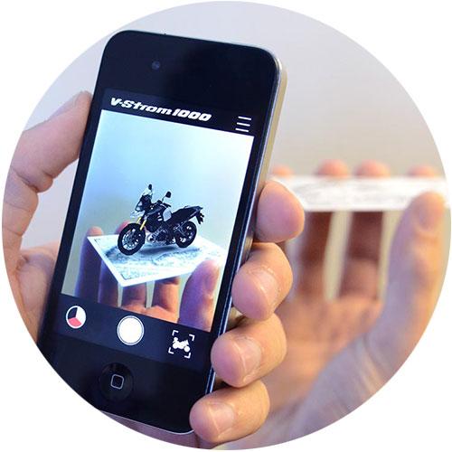 نمایش مدل واقعیت افزوده در موبایل- آژانس دیجیتال کربن
