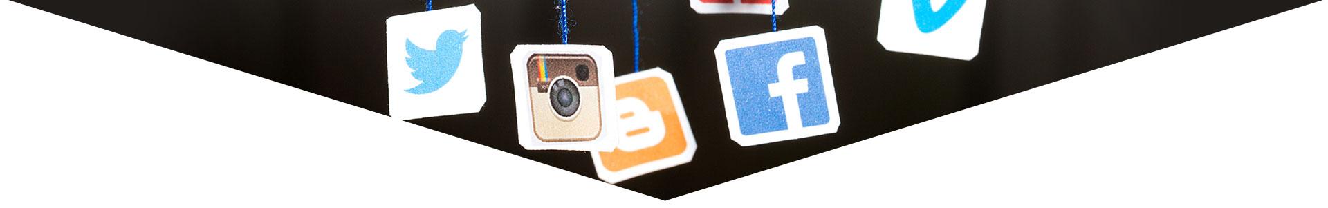تعدادی از لوگو های صفحات اجتماعی- آژانس دیجیتال کربن