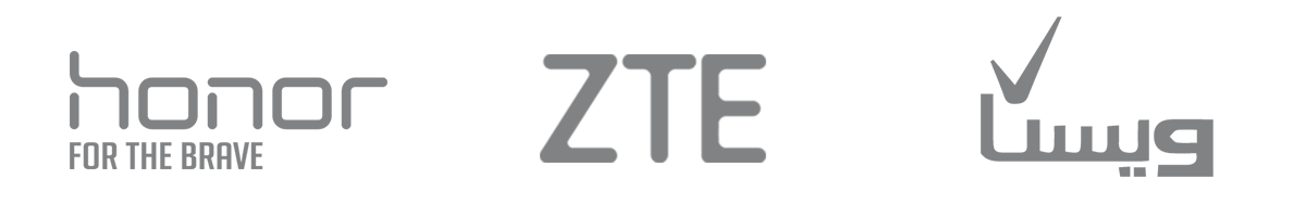 لوگو Honor,ZTE,ویستا- آژانس دیجیتال کربن- تبلیغات- تبلیعات دیجیتال