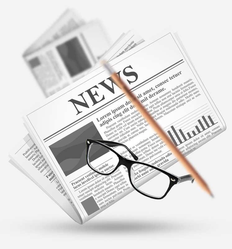 دسته ی روزنامه و عینک- آژانس دیجیتال کربن- تبلیغات- تبلیغات دیجیتال