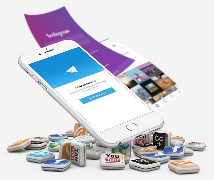 تلفن همراه و شبکه های اجتماعی - آژانس دیجیتال کربن